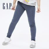Gap女童 彈力羅紋針織內搭褲 715203-藍色