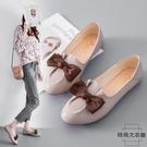 平底單鞋女孕婦軟底豆豆鞋加大碼41 42 43特大碼女鞋【時尚大衣櫥】
