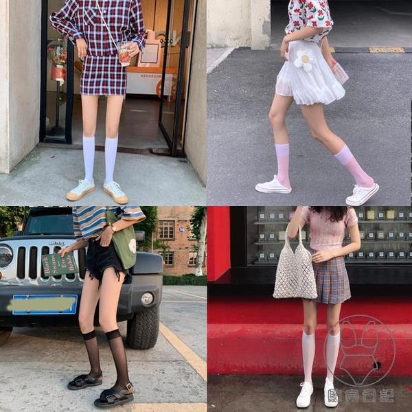 2/3雙裝 小腿襪薄款透明潮長jk日系襪子女中筒半筒絲襪短【貼身日記】