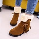 雪地靴女 2020冬季新款韓版雪地靴女鞋短筒加絨保暖平底平跟學生靴子女棉鞋