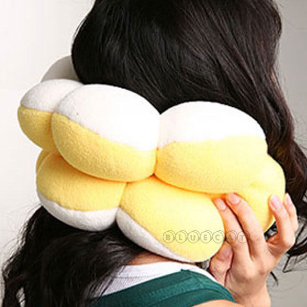 【BlueCat】第一代百變波堤花甜甜圈造型多功能坐墊 抱枕 午睡枕