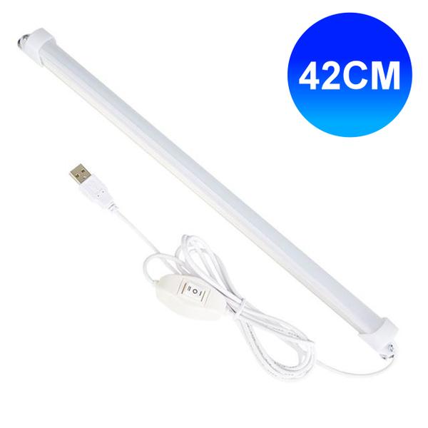線控USB超薄磁吸LED燈管 (42cm) USB燈管 LED燈 照明燈 探照燈 工作燈 USB檯燈 電腦燈