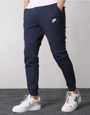 ISNEAKERS NIKE NSW TECH FLEECE PANTS 深藍 防水拉鍊 縮口褲 長褲 男款 805163-455