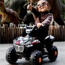 兒童汽車 兒童電動工程車摩托車遙控四輪車男孩可騎可坐人玩具車超大號TW【快速出貨八折鉅惠】