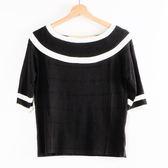 【MASTINA】學院風針織上衣-黑  秋裝限定嚴選