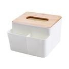 竹木蓋紙巾盒/小物收納盒(1入) 【小三...