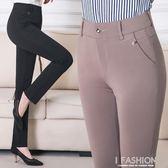 中老年女裝春夏裝褲子媽媽裝直筒長褲寬鬆中年老年人女褲春裝薄款-Ifashion