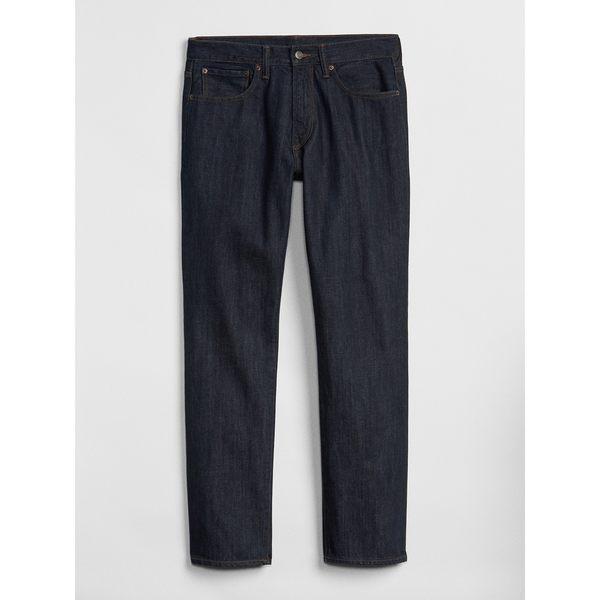 Gap男裝 基本款時尚舒適純棉直筒牛仔褲 644885-深藍