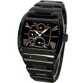【僾瑪精品】Canody 時尚羅馬字體錶盤中性腕錶-IP黑+玫瑰金針/CG9806-3A