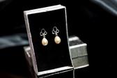 【喨喨水晶飾品】珍珠純銀耳環 S296
