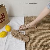 夏季港風涼拖鞋女夏天外穿時尚平底鞋沙灘海邊【時尚大衣櫥】
