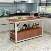 簡易廚房置物架收納架落地多層微波爐架子家用儲物架切菜桌操作臺【帝一3C旗艦】YTL