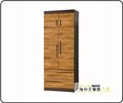 {{ 海中天休閒傢俱廣場 }} G-35 摩登時尚 臥室系列 156-4 賽德克積層木雙色3x7尺衣櫃