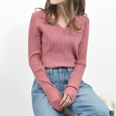 東京著衣-Felt maglietta-V領伸縮性佳輕膚舒適合身輪廓針織上衣(Z200009)