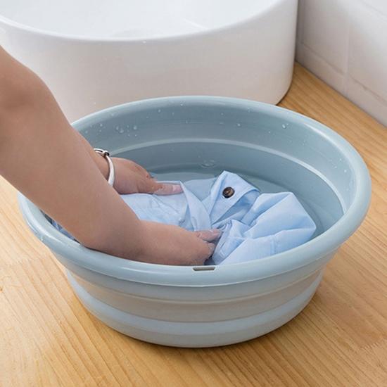 水桶 洗臉盆 可折疊 臉盆 小號 2.5L 水盆 洗衣盆 可伸縮 塑料盆 可掛式 可折疊臉盆【R001】MY COLOR