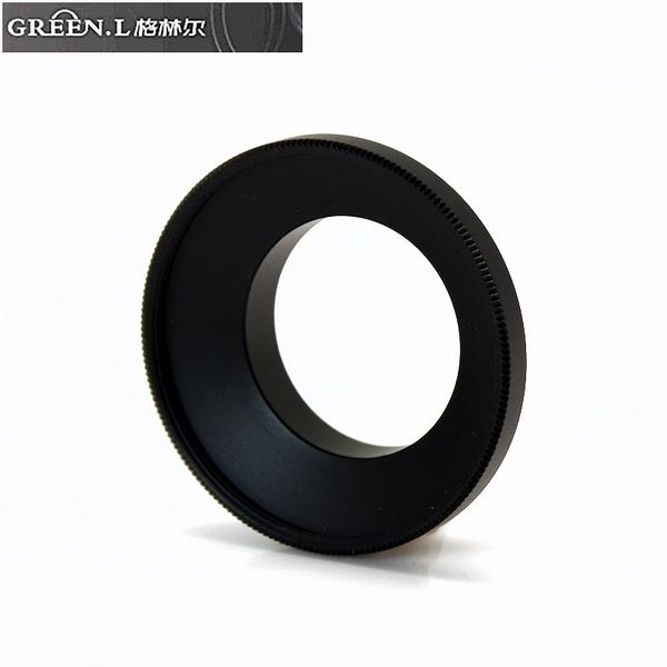 又敗家@Green.L副廠GoPro運動攝影機轉37mm保護鏡轉接環AR-4鏡頭轉接環Hero3 Hero4 Hero+ Hero3+黑色LCD銀色