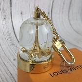 BRAND楓月 LOUIS VUITTON LV 金色 艾菲爾鐵塔 巴黎鐵塔 法國風情 雪花球 鑰匙圈 吊飾