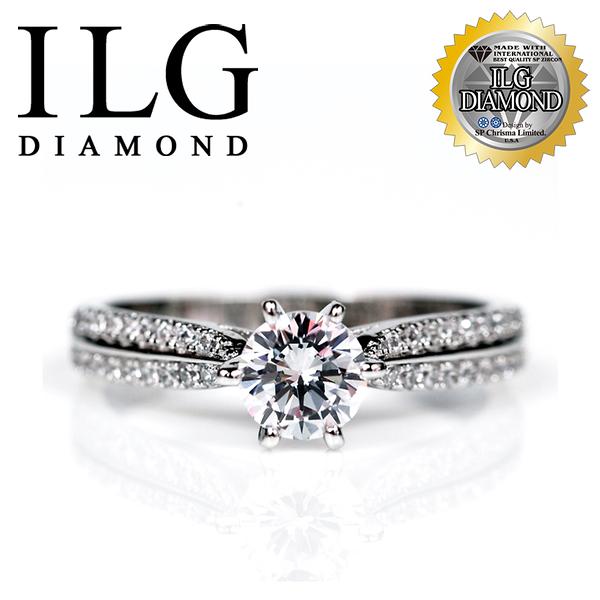 【ILG鑽】頂級八心八箭鑽石戒指- 魅力北歐款 RI103- 主鑽約75分