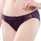 思薇爾-撩波系列M-XXL蕾絲低腰三角內褲(皇家紫)