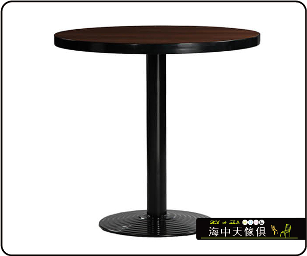{{ 海中天休閒傢俱廣場 }} C-99 摩登時尚 餐桌系列 460-13 3尺圓美耐板餐桌/烤黑腳(顏色可挑選)