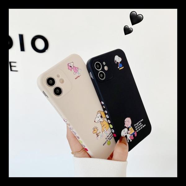 側邊圖案史努比 適用 iPhone12Pro 11 Max Mini Xr X Xs 7 8 plus 蘋果手機殼