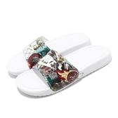 Nike 拖鞋 Benassi JDI Print 白 女鞋 男鞋 印花 涼拖鞋 【PUMP306】 CK0731-111