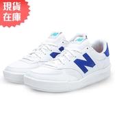 ★現貨在庫★ New Balance 女鞋 休閒 300 皮革 超輕量 金屬感鞋標 白 藍【運動世界】WRT300CE