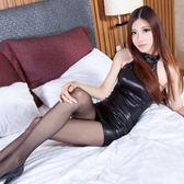 情趣內衣制服誘惑黑色漆皮緊身包臀短裙夜店sm風騷鋼管舞女王套裝