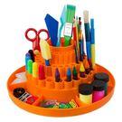 多功能可旋轉式文具收納架,有79個不同大小的收納空間。可放筆、剪刀、迴紋針等,讓你的文具整齊收納