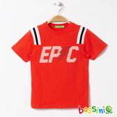 圓領短袖上衣02紅色-bossini男童