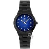 【台南 時代鐘錶 SIGMA】簡約時尚 藍寶石鏡面時尚腕錶 3801M-B13 藍/黑 35mm 平價實惠的好選擇