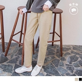《BA6013》微笑刺繡造型排釦高含棉直筒長褲 OrangeBear
