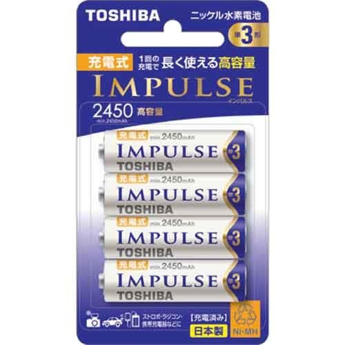 TOSHIBA東芝 3號2450mah充電電池 4入(日本製)