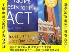 二手書博民逛書店8罕見ACT Practice Tests Includes 1,700+ Practice Questions奇
