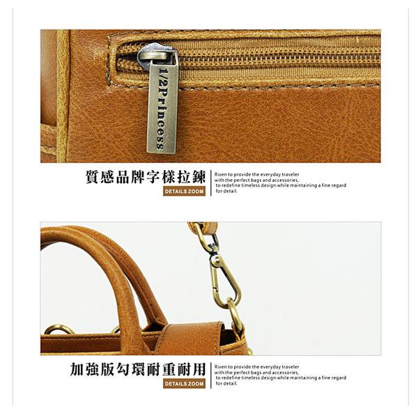 肩背包1/2princess升級版復古皮革mini三用包側背包 後背包 手提包-3色[A2688]