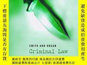二手書博民逛書店Smith罕見And Hogan Criminal LawY256260 David Ormerod Oxfo
