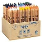【德國 LYRA】3612960  三角原木彩色鉛筆12cm (96pcs/木盒裝) /盒