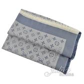 Louis Vuitton LV M71382 Monogram Denim 經典花紋羊毛絲綢披肩圍巾.軍藍 全新 預購【茱麗葉精品】