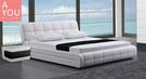 艾琳娜6 尺白皮雙人床(大台北地區免運費)【阿玉的家2020】