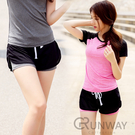 網狀運動短褲 假兩件 綁帶 瑜珈健身休閒長褲 假兩件式瑜珈褲 吸濕排汗 健身跑步