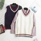 韓版寬鬆學院風百搭針織馬甲女背心毛衣學生毛線馬夾 蘇迪蔓