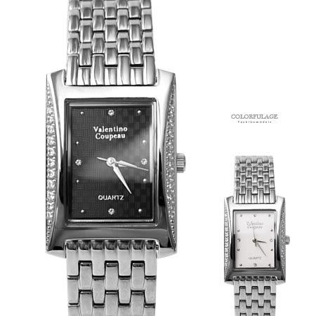范倫鐵諾.古柏 長形格紋手錶 柒彩年代【NEV6】