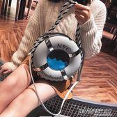 新款女包包時尚斜背包游泳圈個性創意單肩包手提包潮  时尚教主