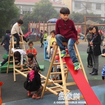 加厚實木梯子家用上下鋪爬梯\戶外直梯梯子\幼稚園木梯\安吉遊戲YYJ 易家樂