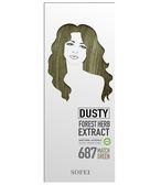 舒妃型色家植萃添加護髮染髮霜-687 霧感 抹茶綠100ML