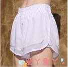 健身褲運動短褲女速乾透氣寬松假兩件瑜伽健身防走光馬拉松跑步褲夏內襯 愛丫 新品