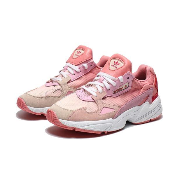 ADIDAS ORIGINALS FALCON 粉紅 麂皮  厚底 老爹鞋 休閒鞋 女(布魯克林) EF1964