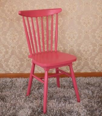 【南洋風休閒傢俱】餐椅-歐式實木餐桌椅 創意家用靠背温莎椅 扇形椅 彩色餐椅 YT502