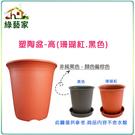 【綠藝家】塑陶盆8號-高 珊瑚紅.黑色 共2色