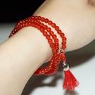 【喨喨飾品】紅瑪瑙 流蘇手鍊/項鍊 招來幸福與永恆的愛情A594